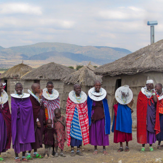 """Maasai Mara welcome"" stock image"