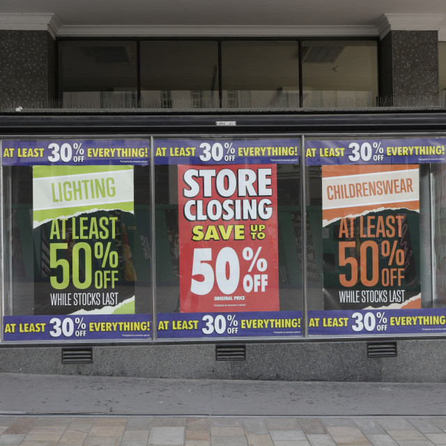 """""""BHS Closing Down"""" stock image"""