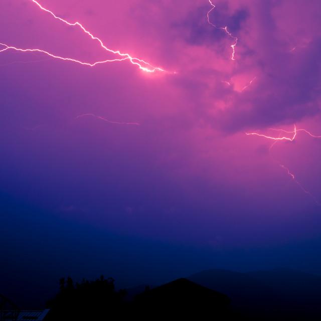 """""""Angry skies"""" stock image"""