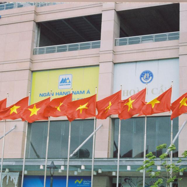 """Vietnam flags"" stock image"
