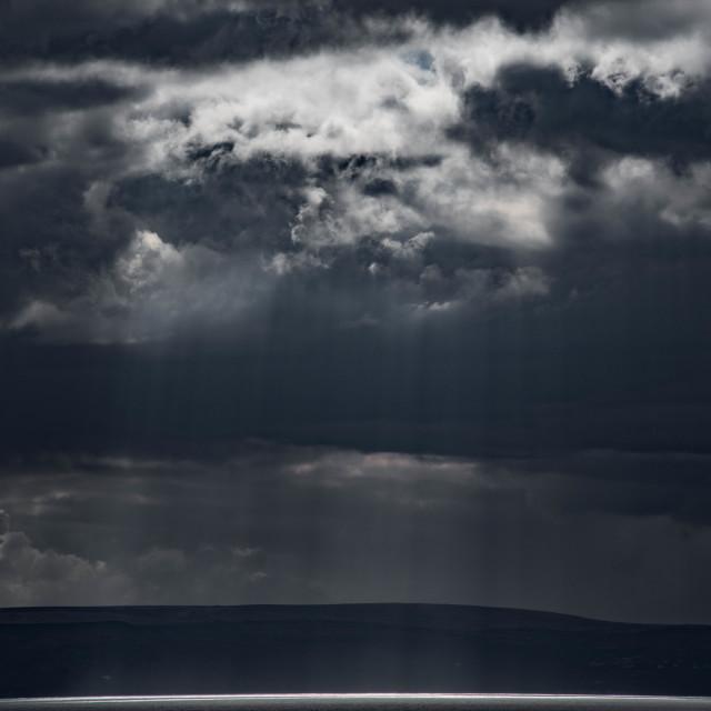 """Sea beneath a silver veil."" stock image"