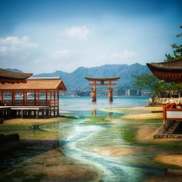"""""""Itsukushima Shrine"""" stock image"""