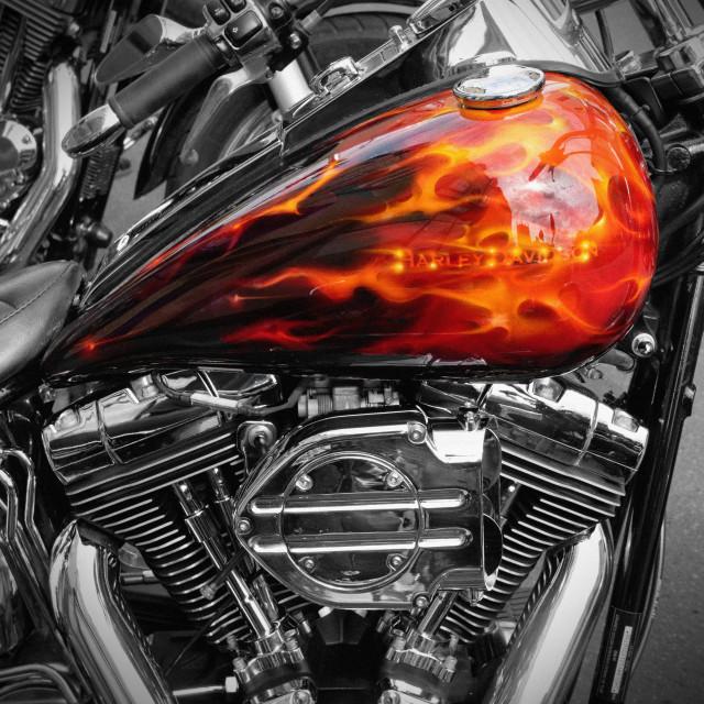"""Harley Davidson Flame Tank"" stock image"