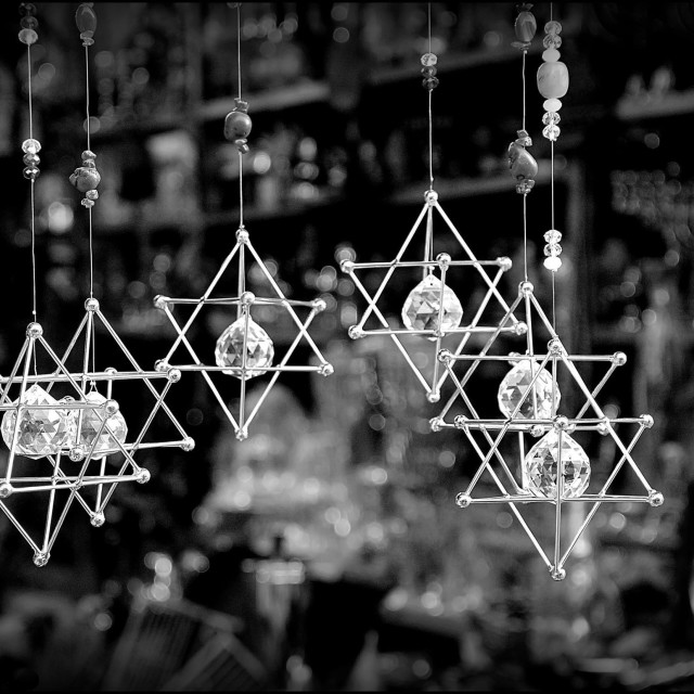 """Star of David decorations"" stock image"