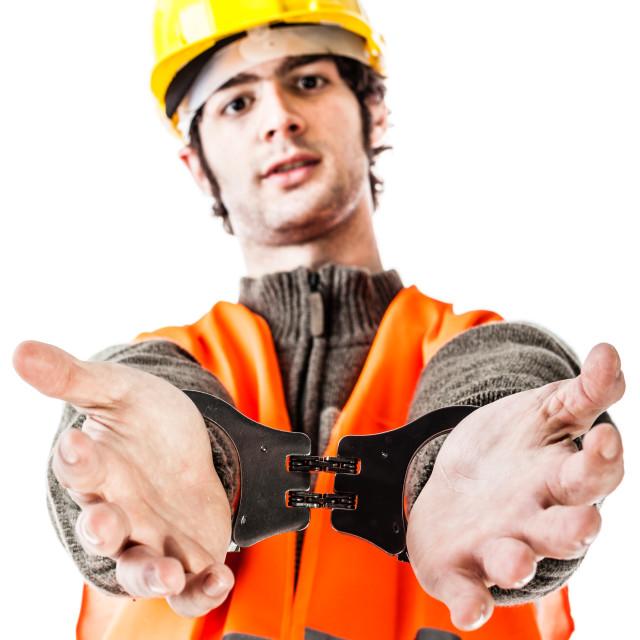 """Arrested foreman"" stock image"