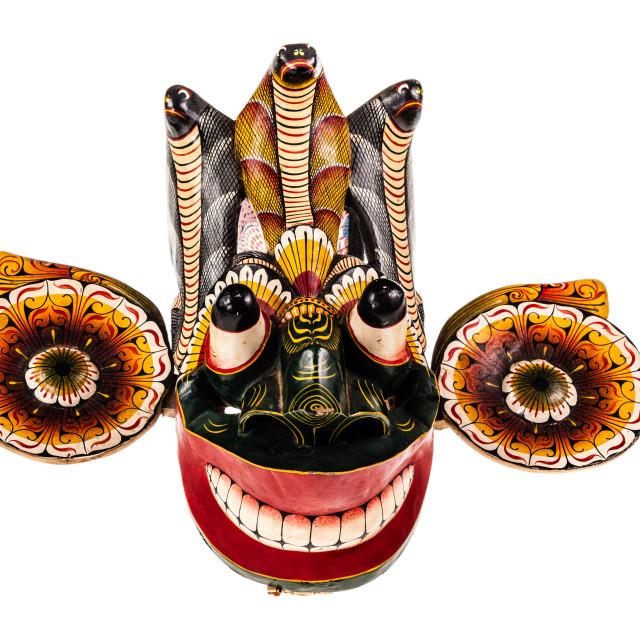 """""""Isolated Gara Raksha Mask"""" stock image"""