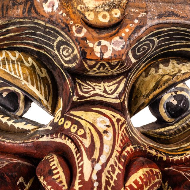 """""""japanese traditional mask eyes"""" stock image"""