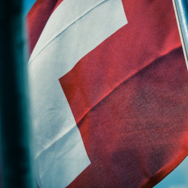"""The Swiss Flag"" stock image"