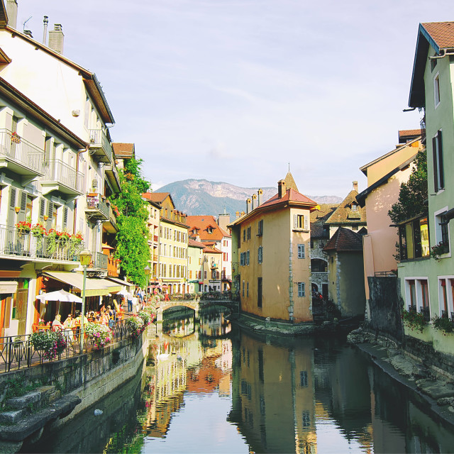 """Annecy Old Town"" stock image"