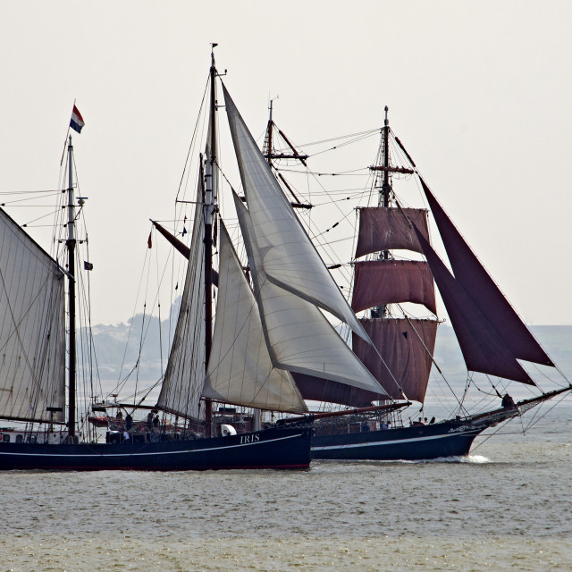 """Tall Ships Passing"" stock image"