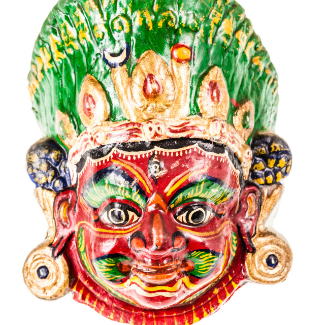 """""""colorful nepalese mask"""" stock image"""