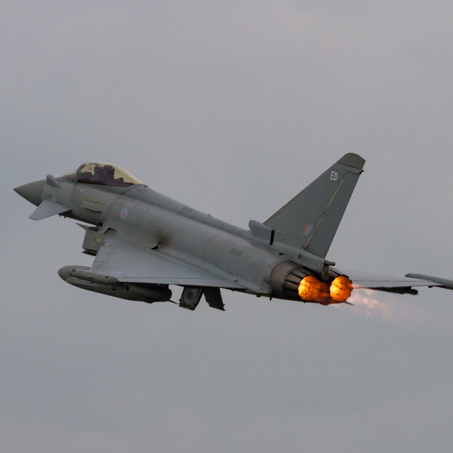 """Eurofighter Take off"" stock image"