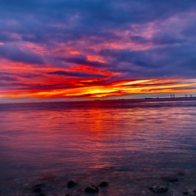 """""""red sunset sky"""" stock image"""