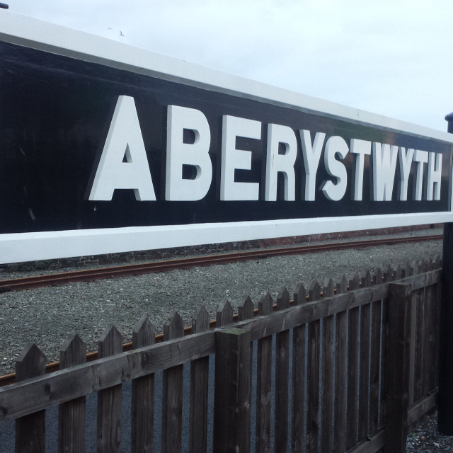 """Aberystwyth Sign"" stock image"
