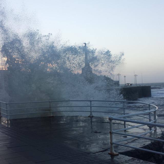 """""""Waves Crashing"""" stock image"""