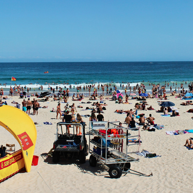 """Bondi Beach Panoramic"" stock image"