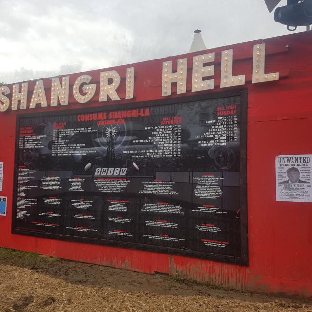"""Shangri La Artwork Glastonbury Festival"" stock image"