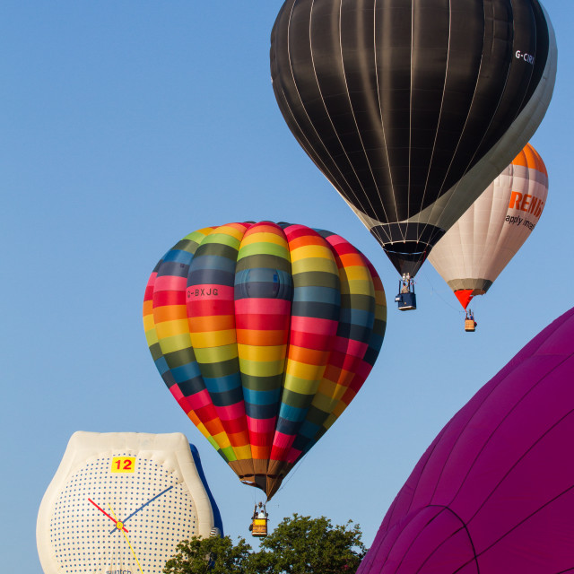 """Hot Air Ballooning"" stock image"