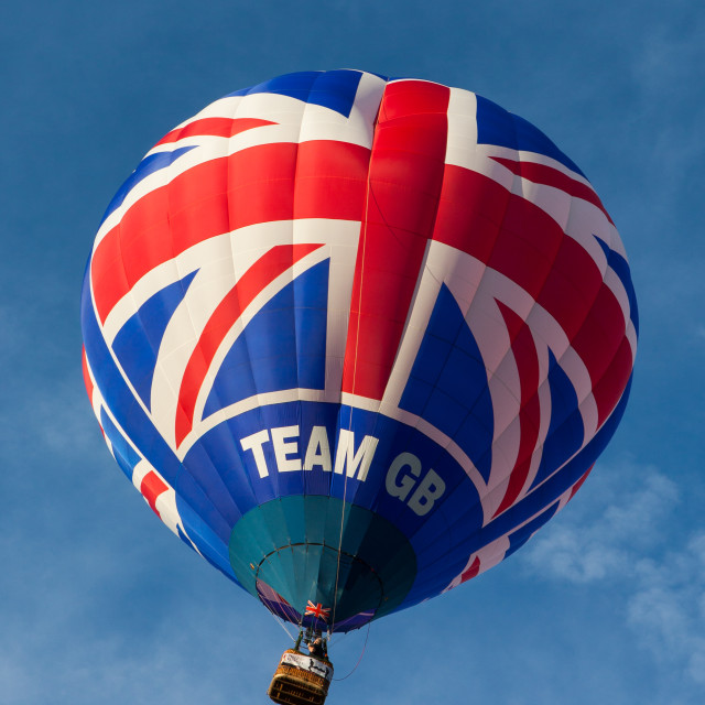 """Team GB Balloon"" stock image"
