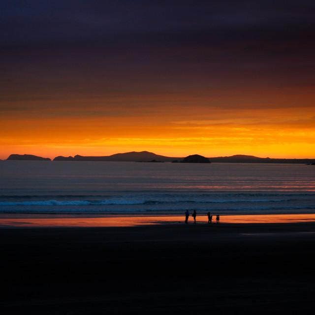 """""""Newgale beach scene"""" stock image"""