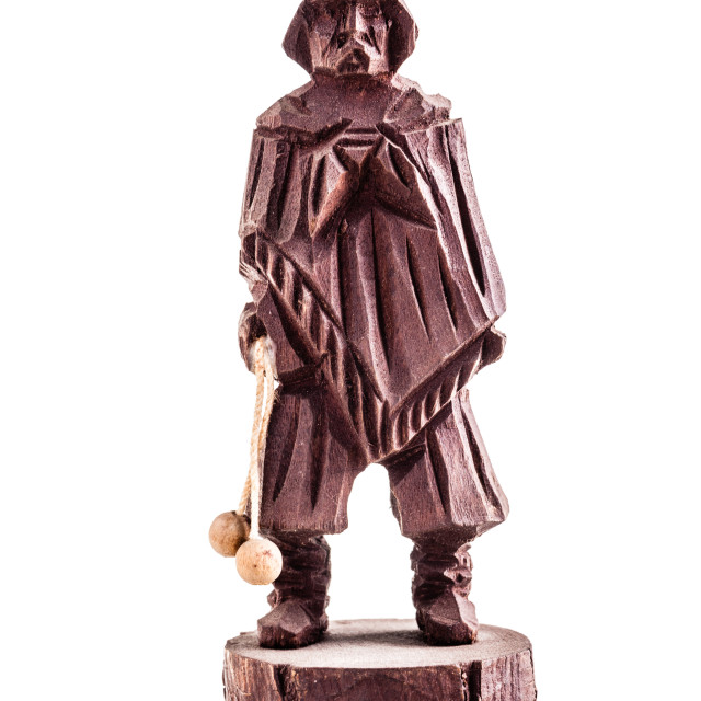 """""""wooden statuette of a gaucho"""" stock image"""