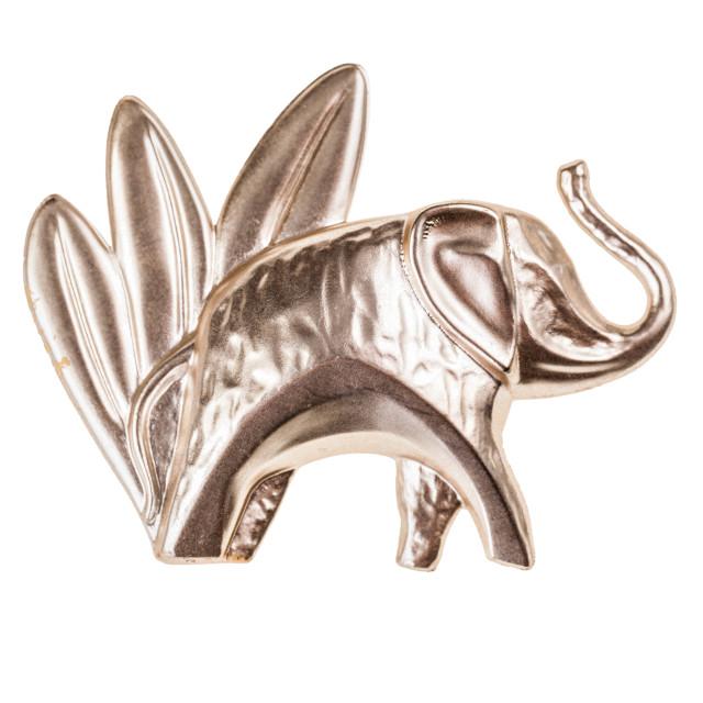 """""""elephant tin badge"""" stock image"""