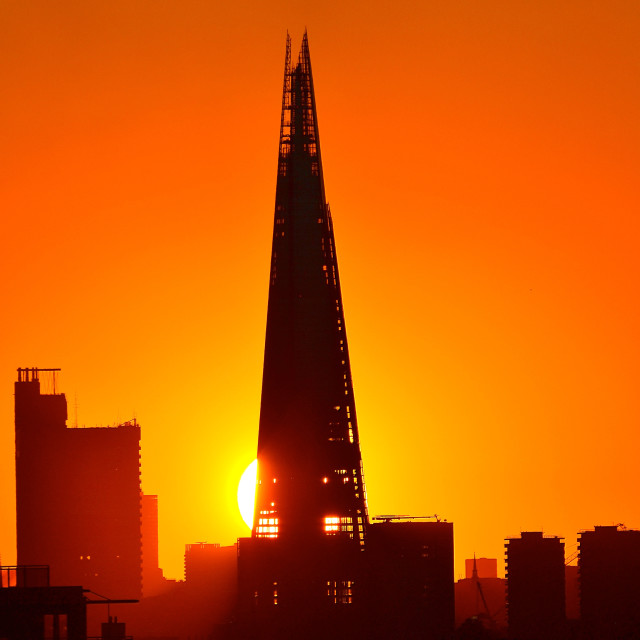 """Sunset and The Shard"" stock image"