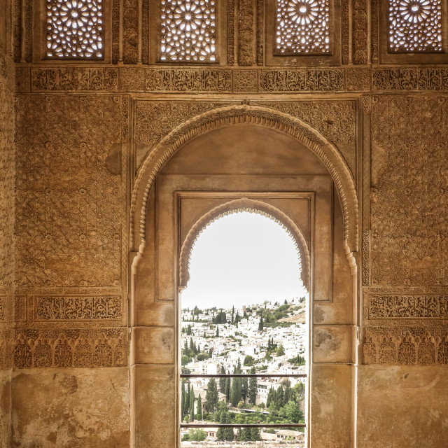 """Moorish decorated door"" stock image"