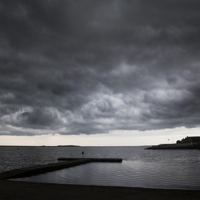 """West Kirby Storm"" stock image"