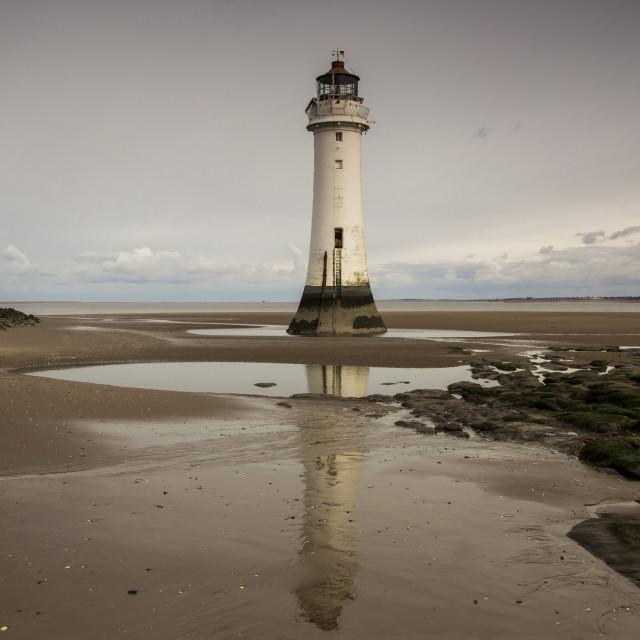 """New Brighton Lighthouse"" stock image"