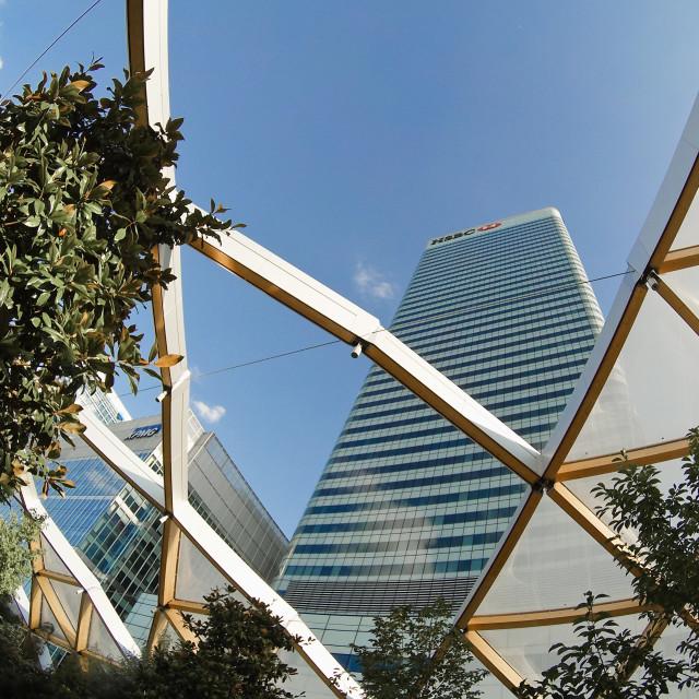 """HSBC headquarters - Canary Wharf - London - UK"" stock image"
