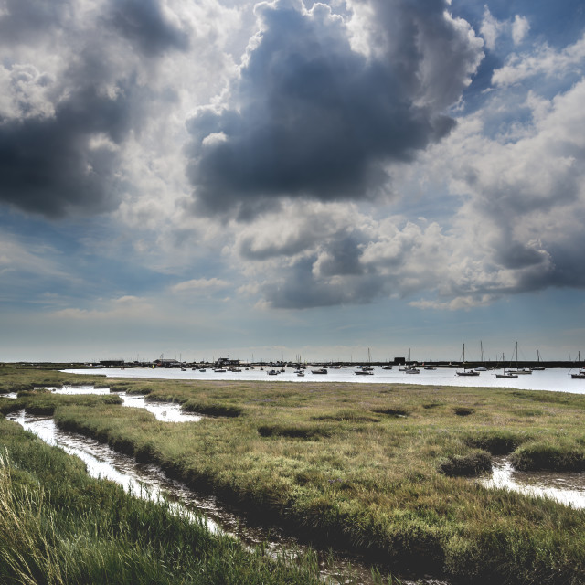 """Brooding Suffolk Landscape"" stock image"