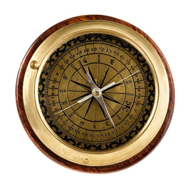 """Nautical compass"" stock image"