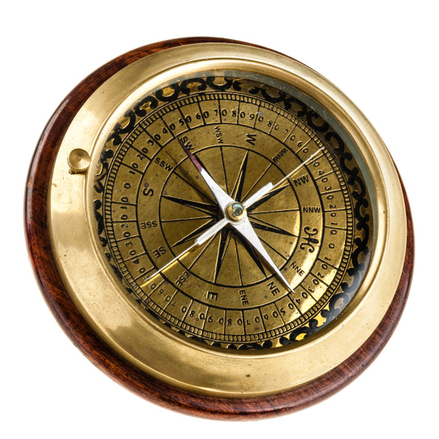 """Desk Compass"" stock image"