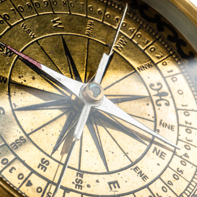 """Golden compass"" stock image"