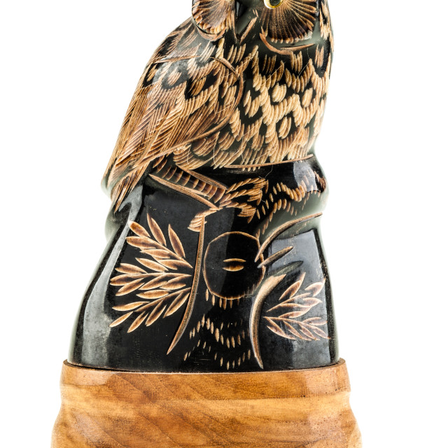 """Wooden Owl"" stock image"