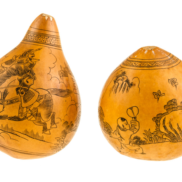 """Japanese painted gourds"" stock image"