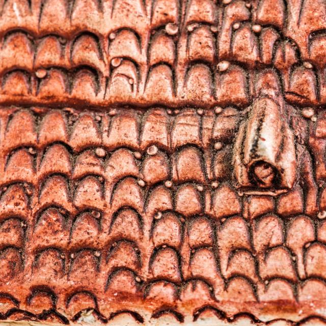 """Tiled roof model"" stock image"