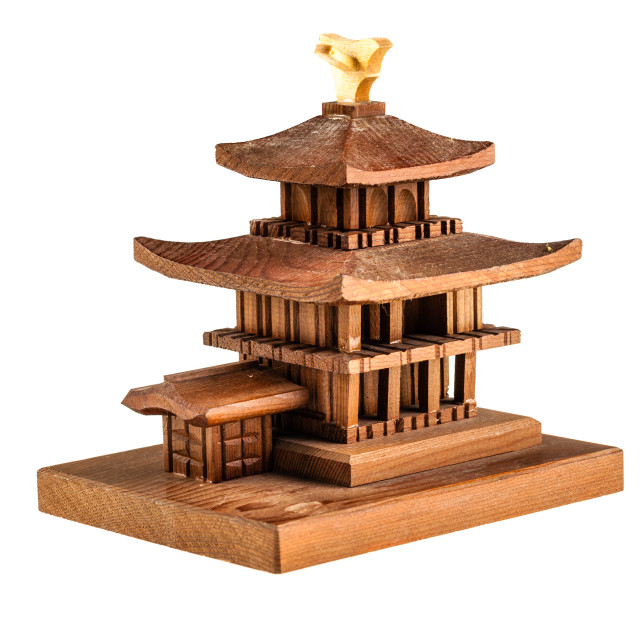"""Wooden temple miniature"" stock image"