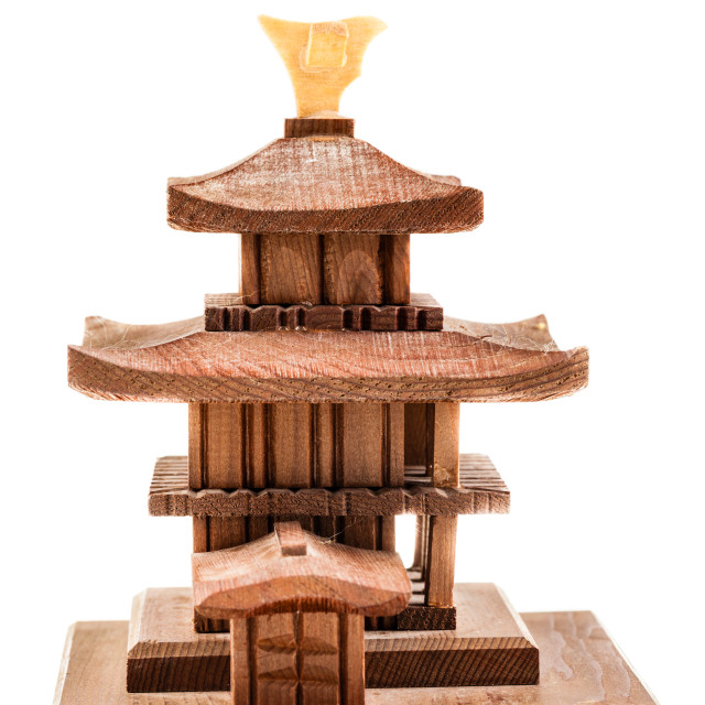 """Wooden temple"" stock image"