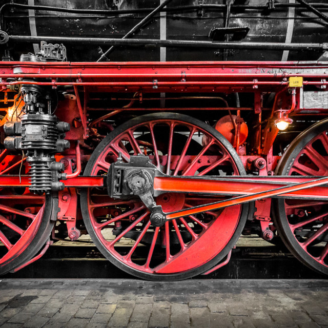 """Steam Train Wheels"" stock image"