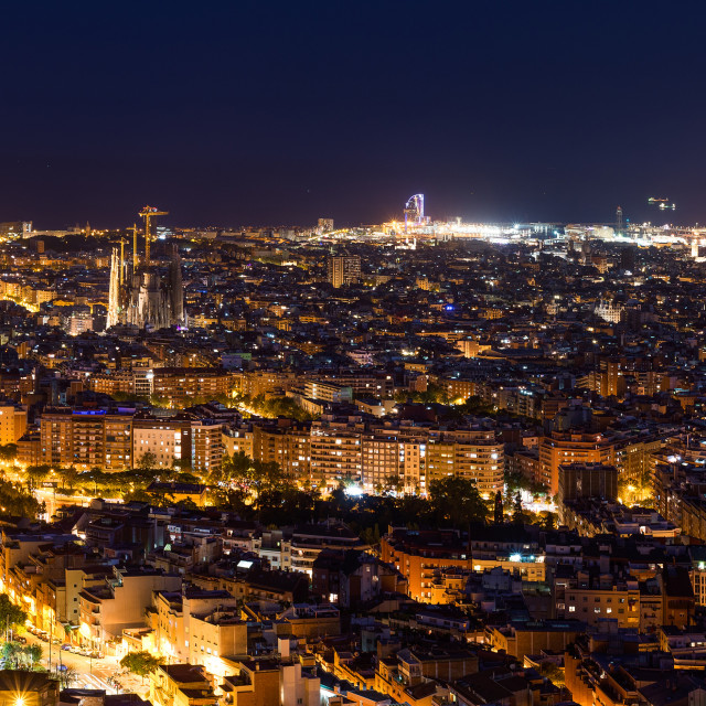 """Barcelona at night"" stock image"