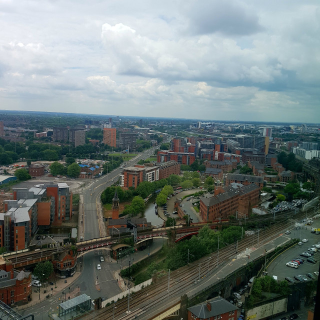 """Skyscraper View of Manchester"" stock image"