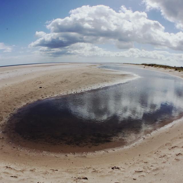 """Tentsmuir Beach"" stock image"