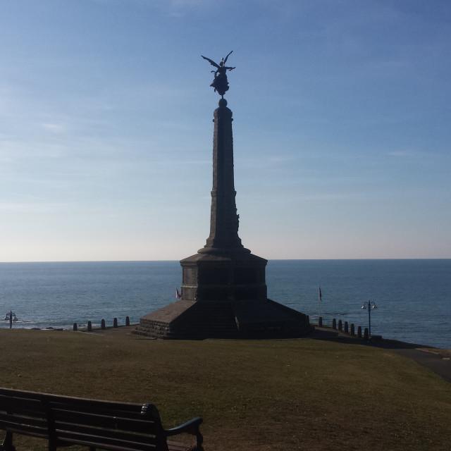 """Aberystwyth Monument"" stock image"