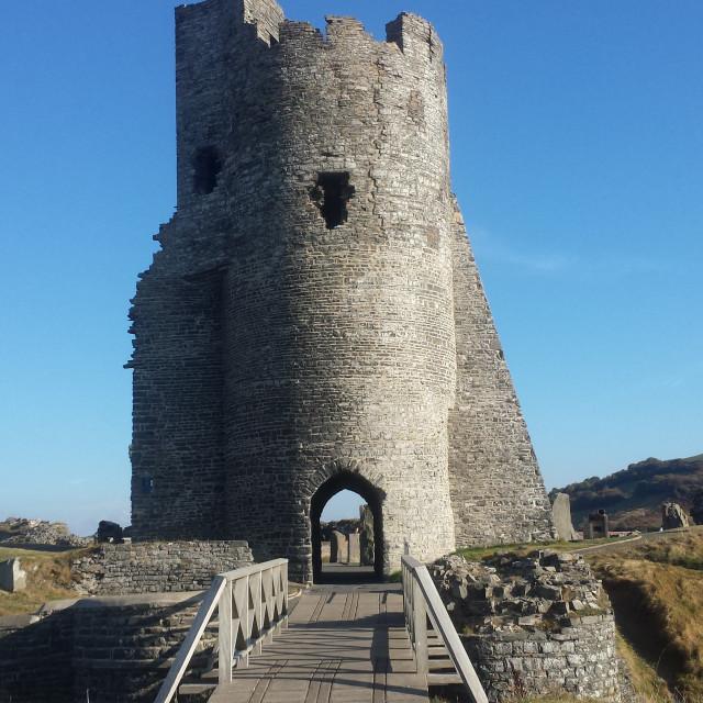 """Aberystwyth Castle Ruins"" stock image"