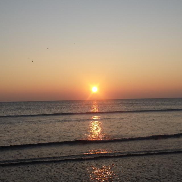 """Aberystwyth Sunset"" stock image"