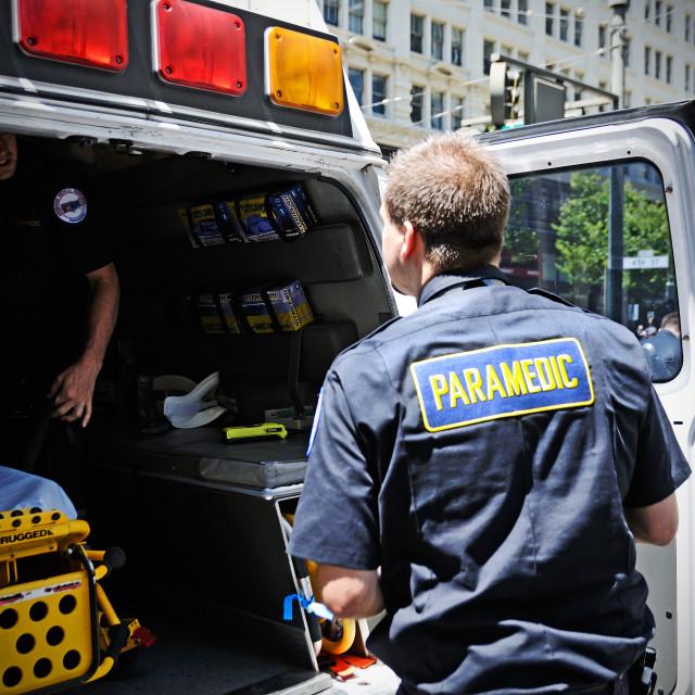 """Paramedics at work"" stock image"