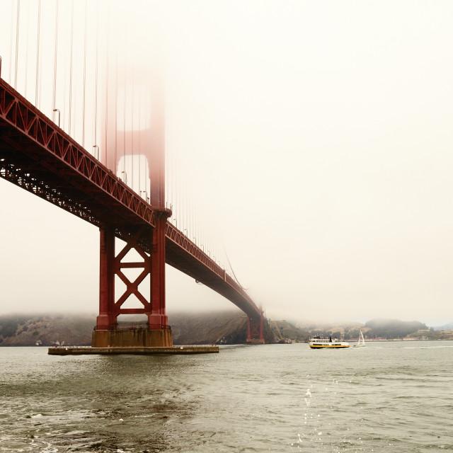 """Fog at the Golden Gate"" stock image"