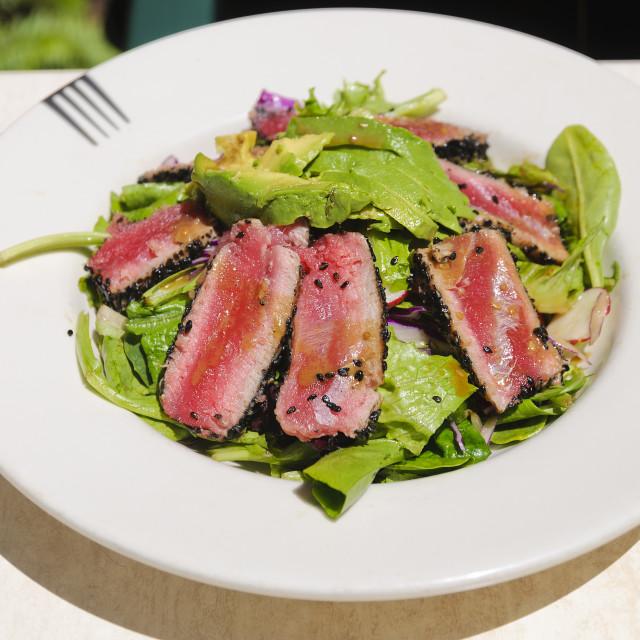 """Seared Tuna Salad"" stock image"
